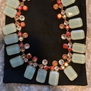 JCrew blue and pink crystal necklace